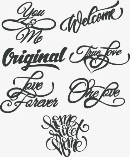 DXF CDR Drawn Vector Words plaque DXF SVG Files Of Plasma Laser Cut Router