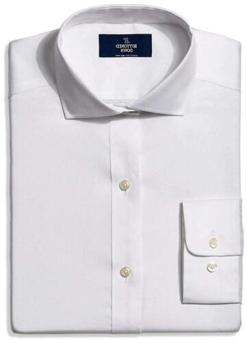 White Size 16.0 BUTTONED DOWN Men/'s Classic Fit Cutaway-Collar Non-Iron Dress