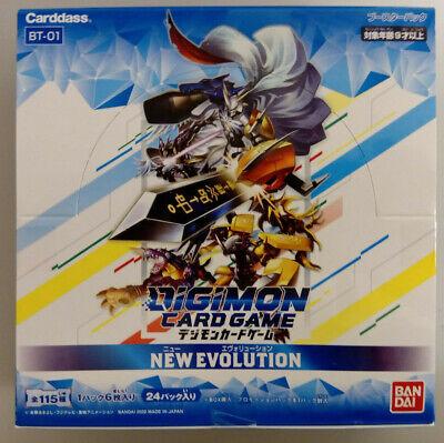 Digimon Card Game Booster New Evolution Sealed Box BT-01 Bandai Japanese