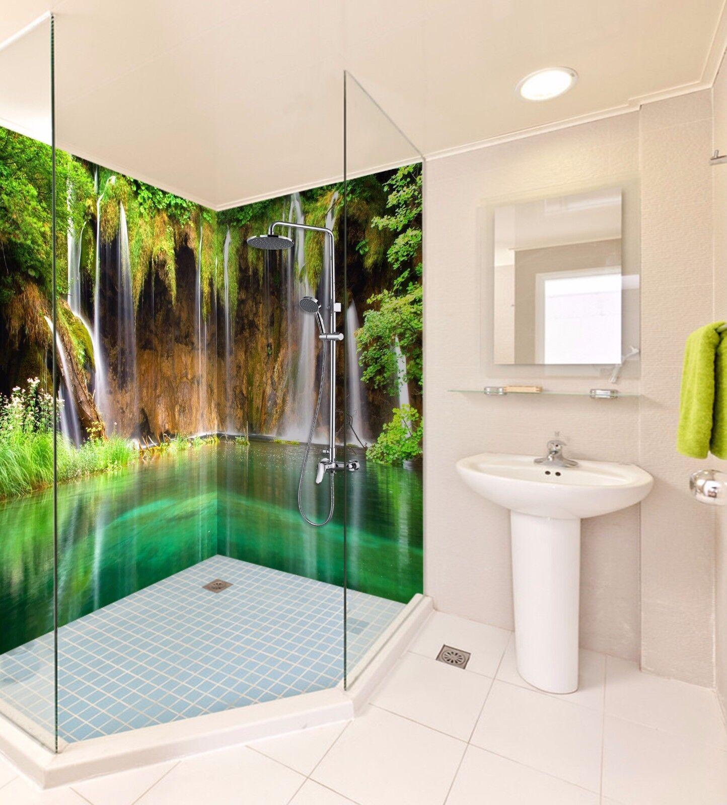 3D Waterfall 734   WallPaper Bathroom Print Decal Wall Deco AJ WALLPAPER AU
