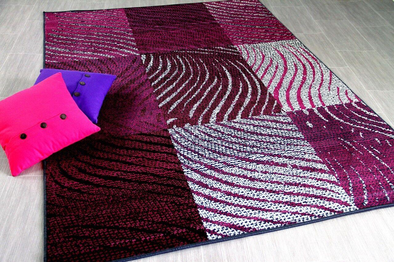 Teppich Teppich Teppich Trendline Zebra Karo Schwarz Lila in 4 Größen | Moderne und stilvolle Mode  bc72d2