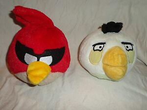 Angry-Birds-Red-White-Bird-6-034-Plush-Soft-Toy-Stuffed-Animal