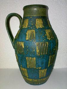 Vase-Carstens-Toennieshof-1517-32-ZigZag-Chess-WGP-Mid-Century-60s-70s-abstract