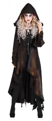 Walking Dead Girl Horror Zombie Gothic Kostüm Mantel Kleid Frack Umhang Kapuze