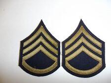 1075p  WW 2 US Army /& Air Force Technical Sergeant Chevrons OD pair R1B