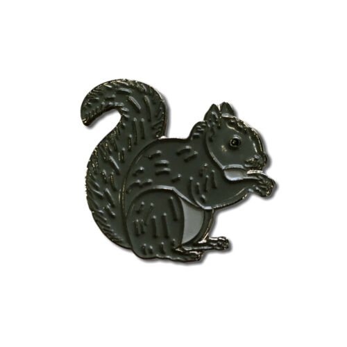 Grey Squirrel High Quality Metal /& Enamel Pin Badge with Secure Locking Back