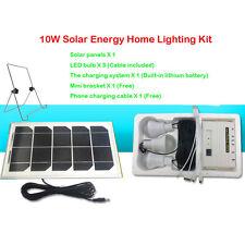 10W Solar Charging DC USB Phone Panel Kit Led light Fan Power