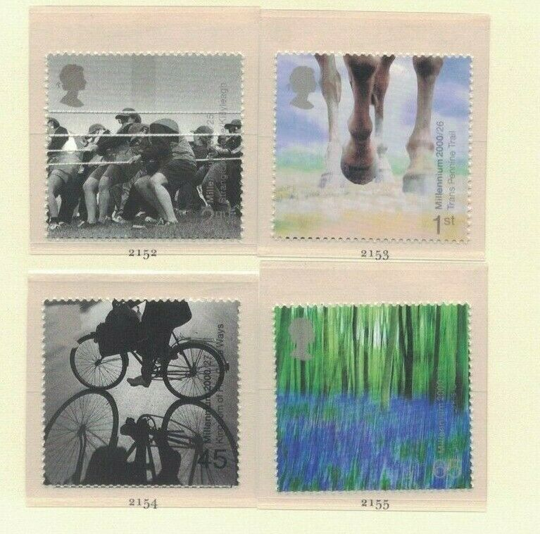 MGB9) Great Britain 2000 Millennium Projects VII - Stone & Soil 25-28 MUH