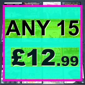 ANY-15-DVDs-or-CDs-just-12-99-Choose-amp-Mix-amp-Match-Bulk-Job-Lot-set
