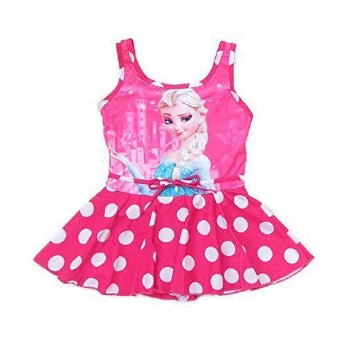 Frozen Elsa and Anna Swimsuit Dress for Girls