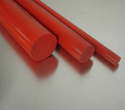 PVC-U Kunststoffstab auf Zuschnitt PVC Rundstab rot /Ø 20mm L: 300mm 30cm