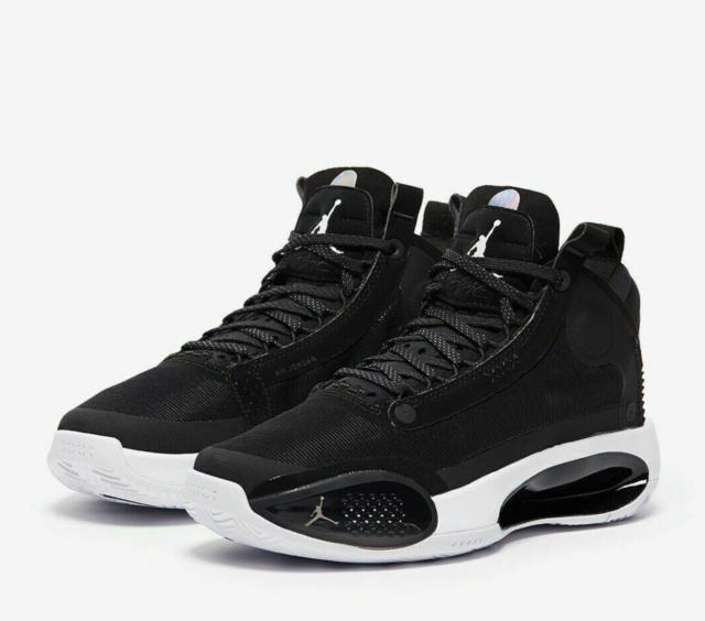 Air Jordan XXXIV Basketball Shoes Black/White BQ3384-001 Size 6.0Y