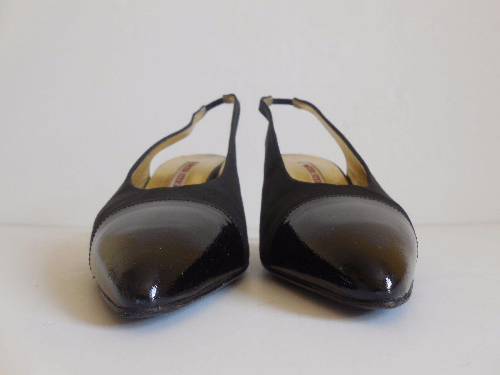 Walter Steiger in Pointed-Toe Slingback schuhe Größe 9AA Made in Steiger  f49957