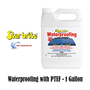 Fabric-Waterproofing-Protectant-w-PTEF-Marine-Boat-Cover-Canvas-Tent-1-Gallon