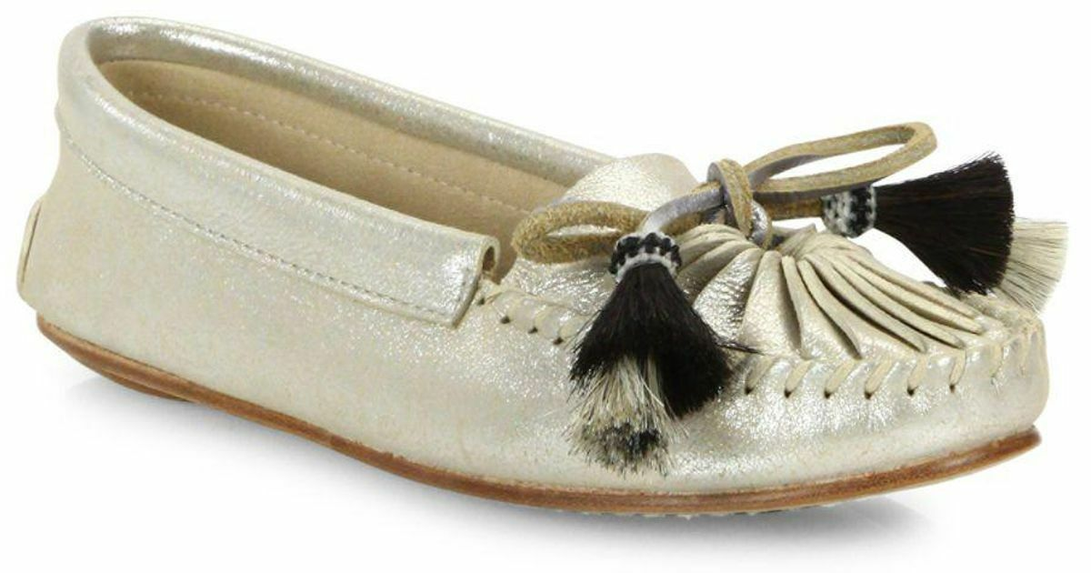 295 size 7.5 Loeffler Randall Lois Silver Suede Loafers Moccasins shoes NEW