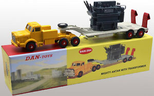 DAN-TOYS-Mighty-Antar-avec-Semi-Remorque-Porte-Transformateur-Jaune-Gris