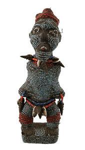 Feticcio Statuetta Africana Bamileke Perles -camerun-arte Tribale -1173