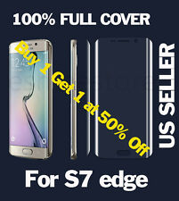Curved HD Clear Full Cover Pet Screen Protector Film for Samsung Galaxy S7 Edge