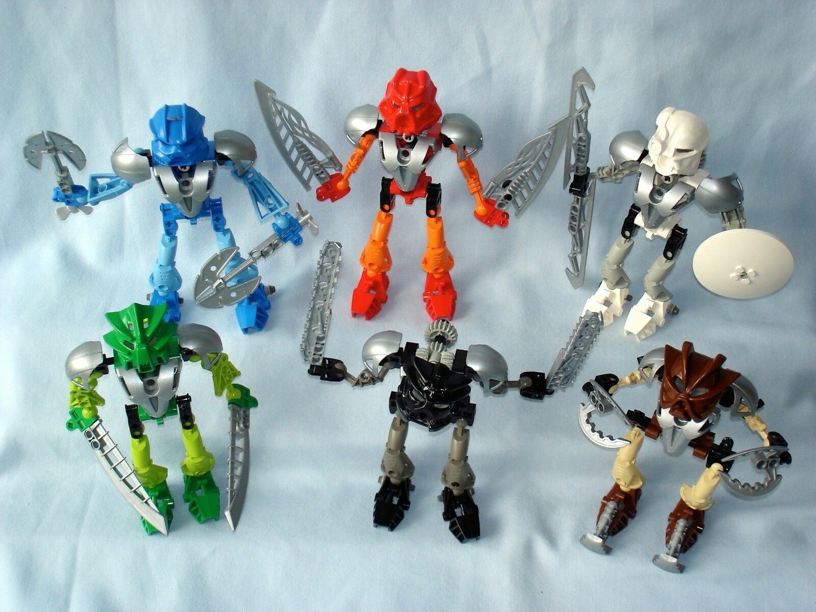 2002 Lego Bionicle Toa Nuva Original-Juego completo de 6 (8566-8572)