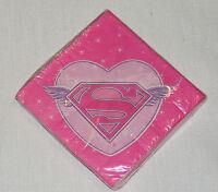 Supergirl 16- Dessert Napkins , Party Supplies
