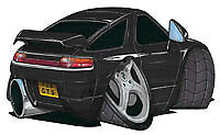 Porsche 928 Black Cartoon Car T-shirt GT S4 S S2 SE GTS available sizes S-3XL