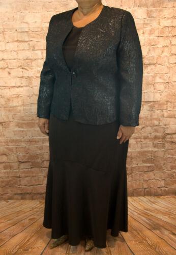 Kostüm Dreiteiler Business Blazer Rock Top Damen Oberteil Kleid Gr 38,42,48 XXL