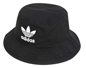 7ac275f32 Details about Adidas Originals Bucket Caps Running Hat Black OSFM Adicolor  Hats Cap BK7345