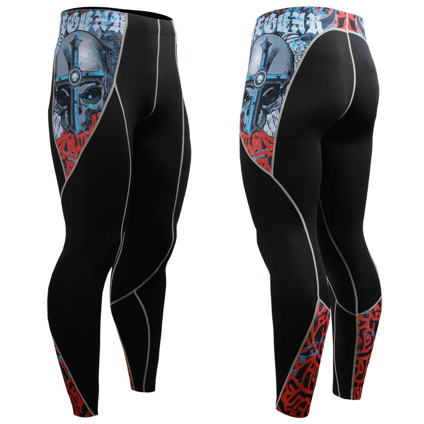 FIXGEAR Compression Skin Tights Leggings Pants P2L-B73 MMA Workout Fitness GYM