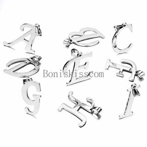 Silver-Stainless-Steel-Alphabet-Initial-Letter-Pendant-Necklace-Gifts-A-Z