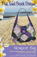 Newport Bag Purse Pattern, Pink Sand Beach Designs, Diy 5 Charm Square Friendly