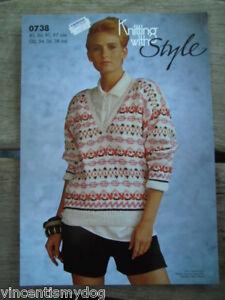 Fringant Knitting With Style Dk * Col V Pull Motif * 0738-afficher Le Titre D'origine à Tout Prix