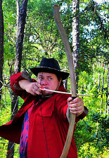3 Hunting Arrows with Viking Hunting Longbow with Wood Grain pattern (60lbs)