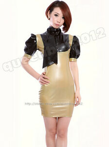 Mixed Intimate Items 100% True 100% Latex Rubber Gummi 0.45mm Nurse Dress Uniform Catsuit Skirt Suit Costume