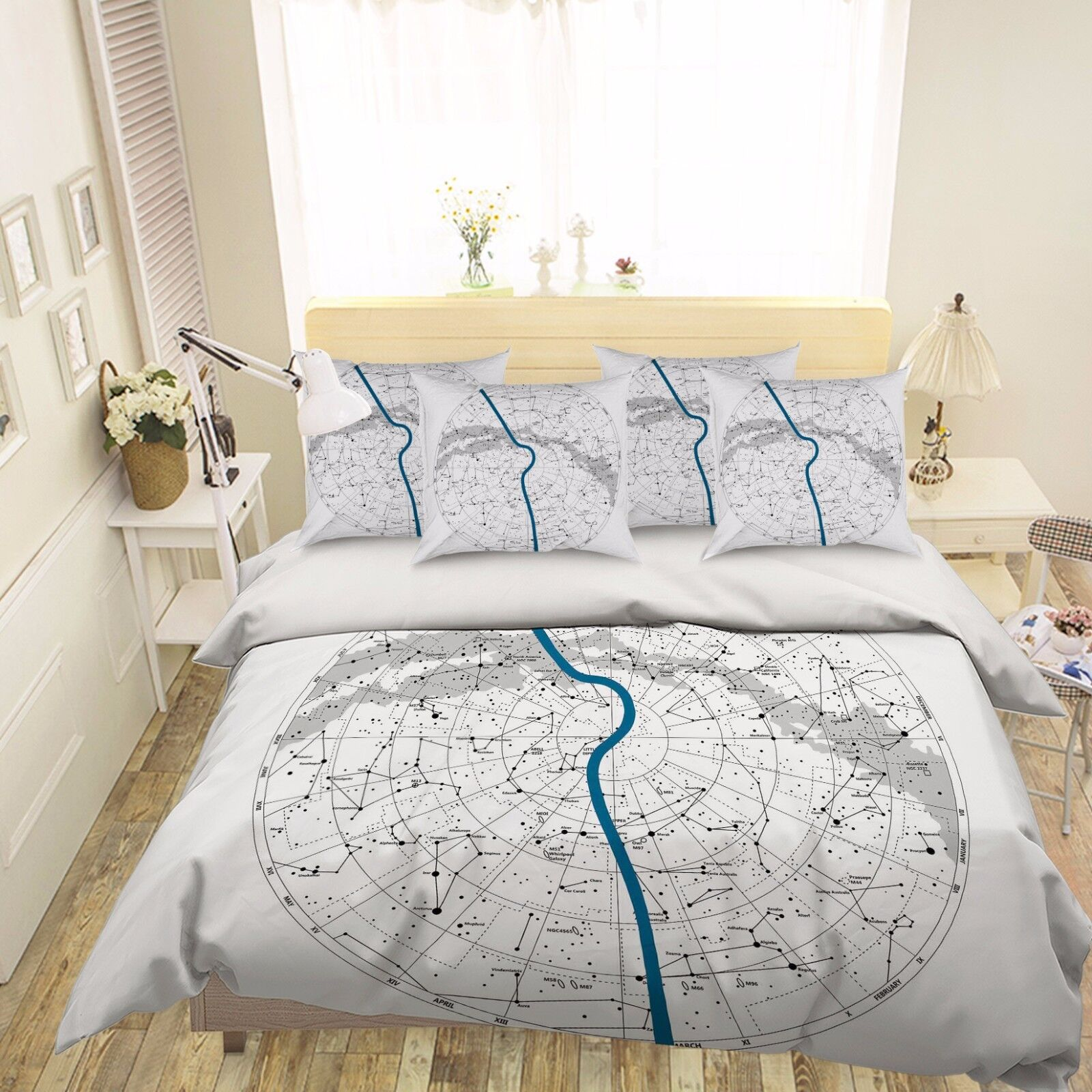 3D Sketch Map 886 Bed Pillowcases Quilt Duvet Cover Set Single Queen UK Carly