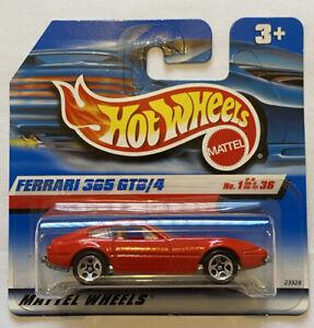 2000 HotWheels FERRARI 365 GTB/4 Daytona Rosso Carta europea breve rilascio MOC!