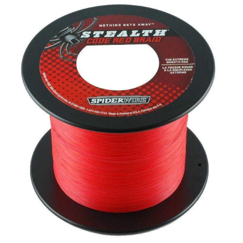 SPIDERWIRE STEALTH codice rosso 0,12mm 3000m 7,30kg intrecciato lenza ROSSO KVA