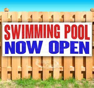 Image Is Loading Swimming Pool Now Open Advertising Vinyl Banner Flag