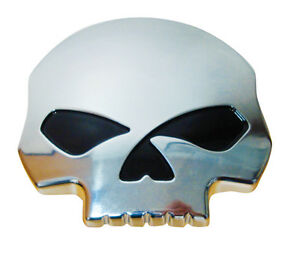 SKULL-CHROME-ABS-CAR-BADGE-EMBLEM-DECORATIVE-BADGE-80MM