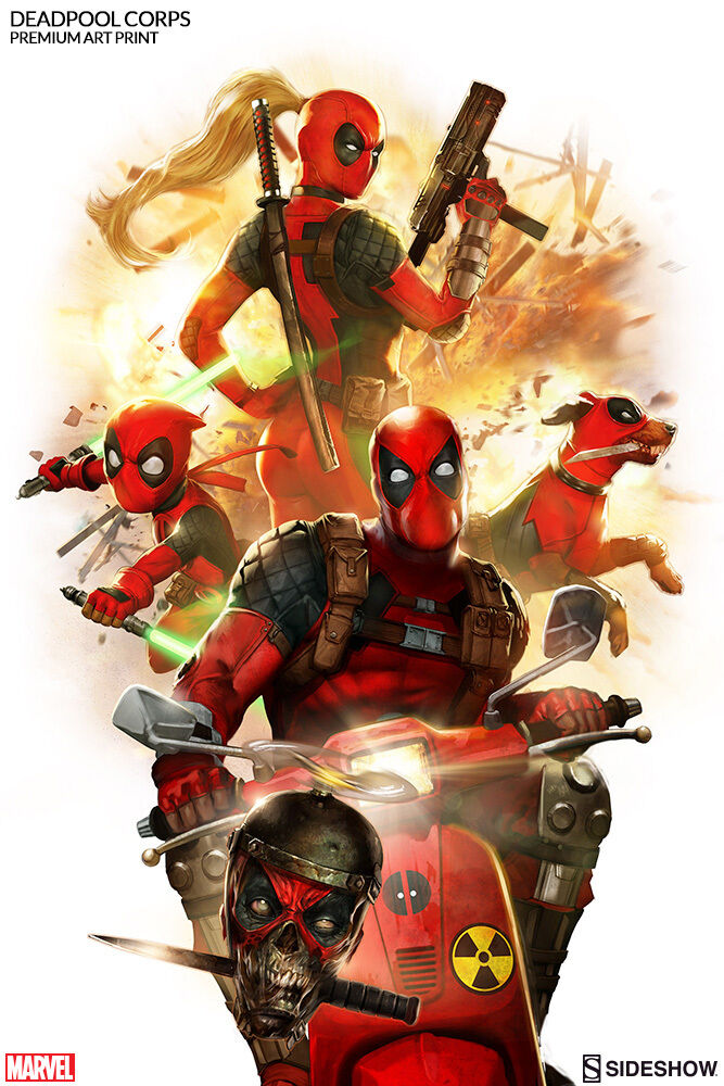 Sideshow Collectibles Deadpool Corps Premium Art Art Art Print Framed Version 84 300 26235e