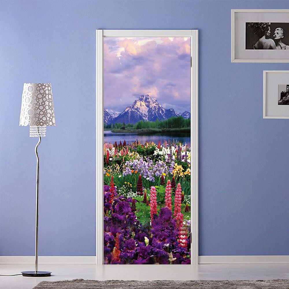 3D Blaumen 8 Tür Wandmalerei Wandaufkleber Aufkleber AJ WALLPAPER DE Kyra    Ausgezeichneter Wert    Elegante Form    Realistisch