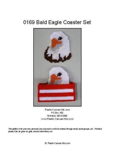 Bald Eagle Coaster Set-Plastic Canvas Pattern or Kit