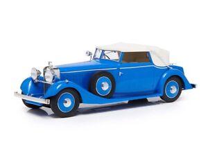 1934 HISPANO SUIZA J12 DROPHEAD COUPE BLUE LTD ED 1/18 ESVAL MODELS EMEU18001 B