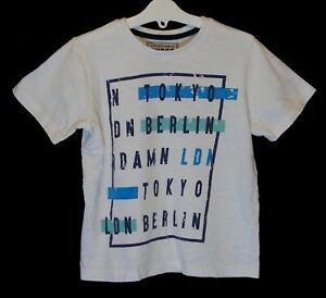 Boys blue marl miami graphic print t-shirt in age 7 to 12 years