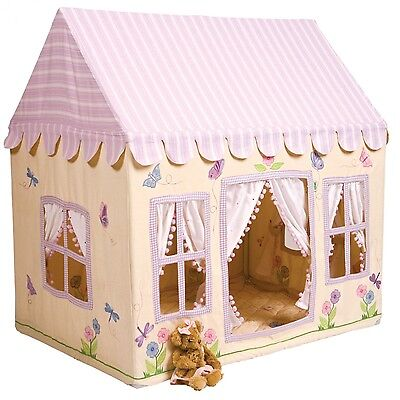 Fabric Pink Butterfly Cottage Children's Playhouse / Play Tent / Wendy House