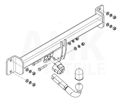 BMW X3 E83//E83LCI Anhängerkupplung starr+ES 7p ABE