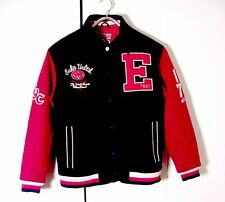 Vtg Red Black Wool Ecko Unltd 1972 NYC Varsity Jacket Sz L
