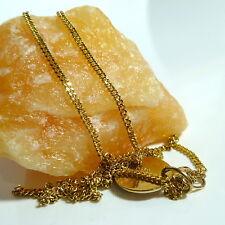 8 K 333 Chaîne avec 2 Pendentifs Collier Chaîne Chaîne en or Doré 37 cm