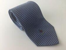 TOMMY HILFIGER Cravatta Di Seta-Blu Silver Diamond Quadrato Design con Leone Royal