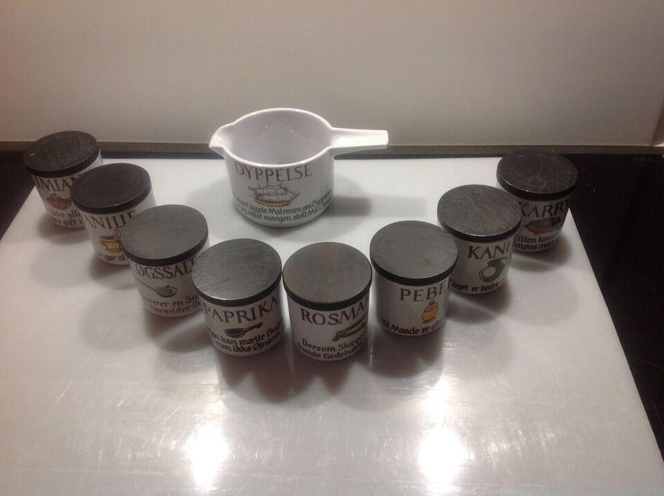 Keramik, Krydderikrukker, Knabstrup ordsprog