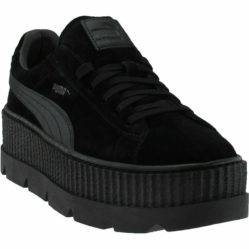 meet 2bc85 50156 Puma Fenty by Rihanna Suede Cleated Creeper Casual Sneakers Black - Mens -